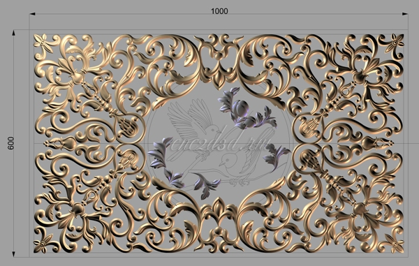 3d model for CNC Artcam Woodcarving